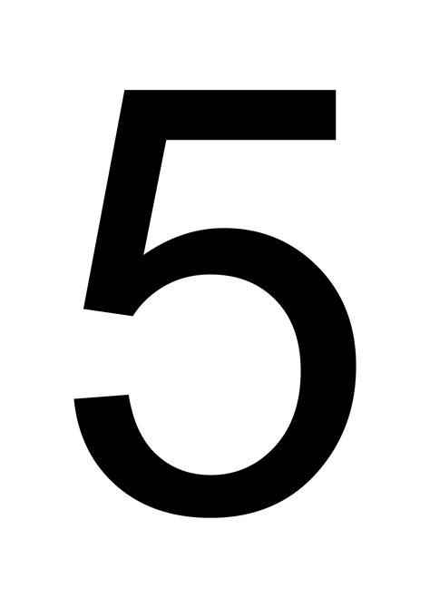 Large Printable Numbers Download | large printable number 5 free printables