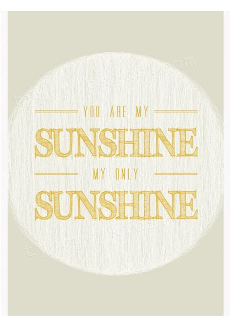 Song Lyric Wall Stickers my sunshine unisex yellow