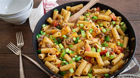 comfort food pasta one pot wonder 30 minute bison chili pasta skillet is