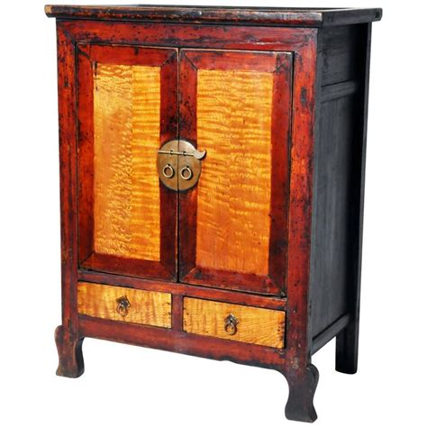 red lacquer cabinet chinese red lacquer cabinet for sale at 1stdibs