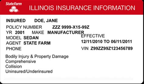 how to make insurance card illinois auto insurance card 187 ibrizz