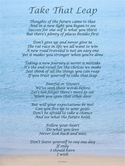 poems your take that leap poem follow your and do what you