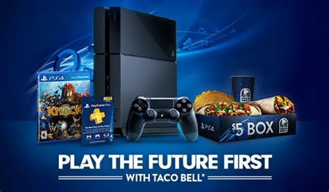 Taco Bell Sweepstakes Xbox - taco bell and sony team up for ps4 quot play the future first quot promotion gaming age