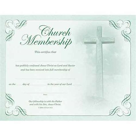 membership certificates templates best photos of blank church certificate templates church