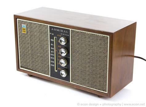 cabinet am fm radio vintage admiral solid state am fm radio wood cabinet tweed