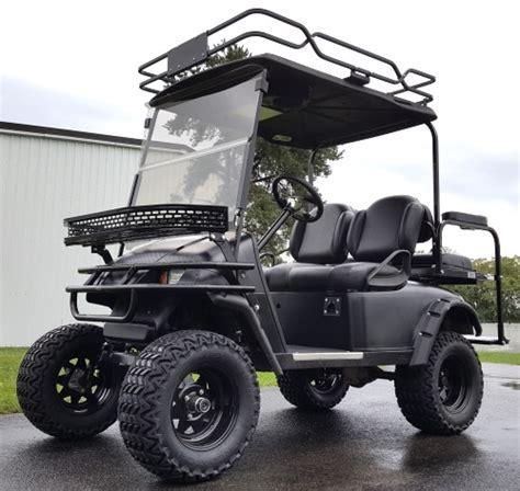 48v Electric Ez Go Txt Black Hunter Edition Golf Cart