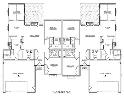 twin home floor plans 1205 1207 rick halvorson construction inc