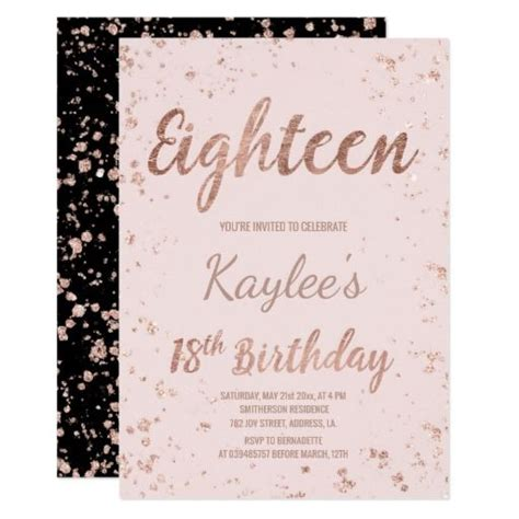 Invitation Card Template For 18th Birthday by 438 Best 18th Birthday Invitations Images On