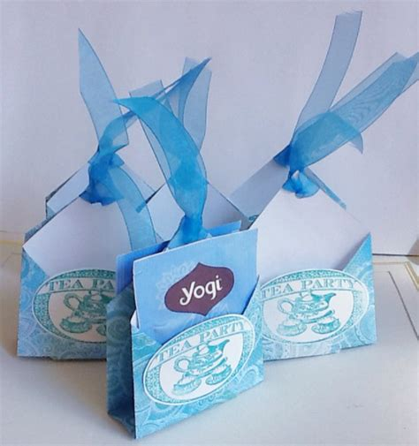 Handmade Tea Bags - tea bag holders handmade tea favors blue teal by