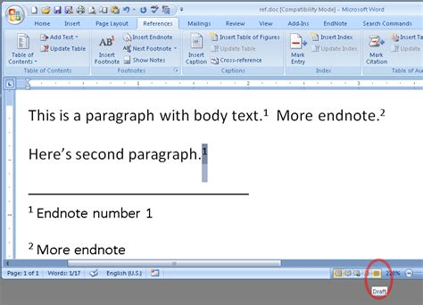 automatic update cross reference word version free