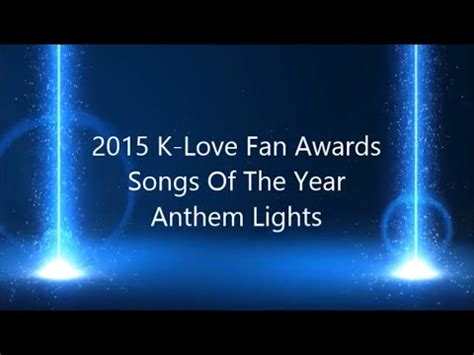 song played on klove k fan awards songs of the year 2015 mash up by