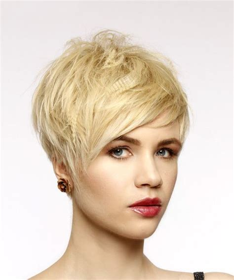 caucasions beliefs on short hair short straight casual pixie hairstyle with side swept