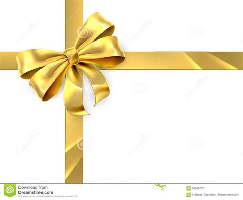 gold bow gold bow gift stock vector image of shiny paper
