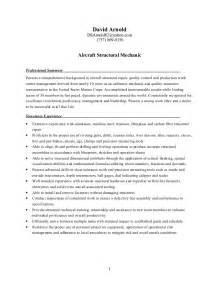 Resume Structures Mechanic