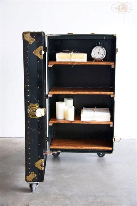 restoration hardware liquor cabinet bar storage shelves and old trunks on pinterest