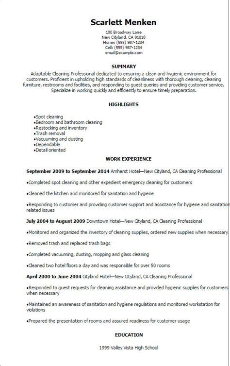 Janitorial Resume Templates by Maintenance Janitorial Resume Templates To Impress Any
