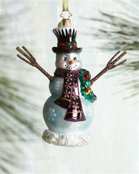 christopher radko in the meadow snowboard christmas ornament