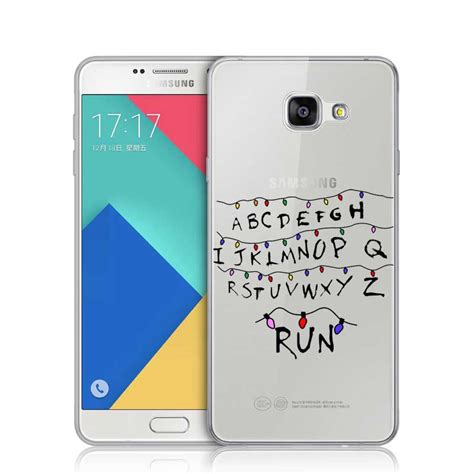 Running 0896 Casing For Galaxy A7 2016 Hardcase 2d things light alphabet run plastic cover for samsung a3 a5 a7 j1 j5 j7 2016 s3