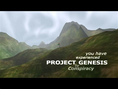 The Project Genesis conspiracy beyond expectations project genesis
