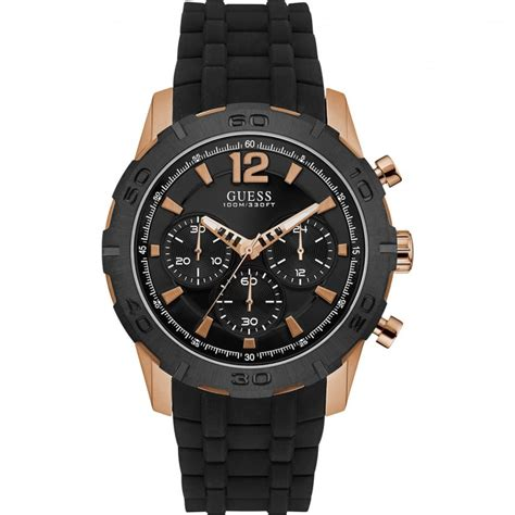 guess chrono rubber guess s calibre black rubber chronograph guess