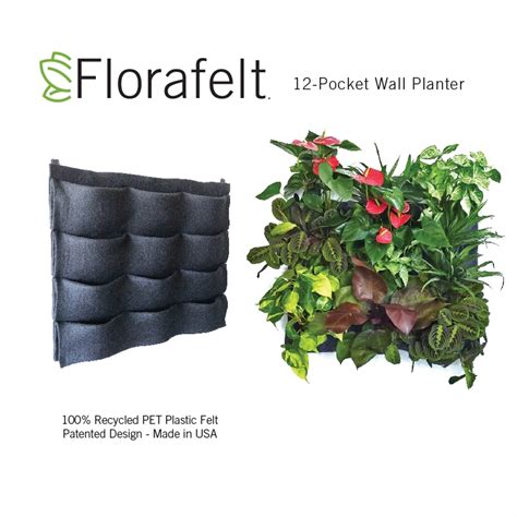 Pocket Vertical Garden Florafelt 12 Pocket Vertical Garden Planter