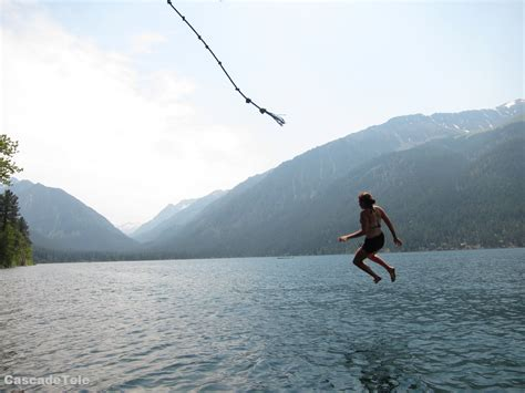 rope swinging rope swing eagle cap backcountry
