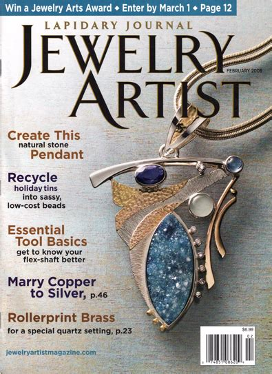 jewelry magazines kinoite pendant featured on the cover of quot jewelry artist
