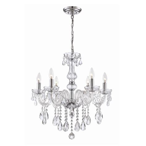 Chandeliers Home Depot Canada Home Decorators Collection Deamber Collection 6 Light Chrome Chandelier The Home Depot Canada