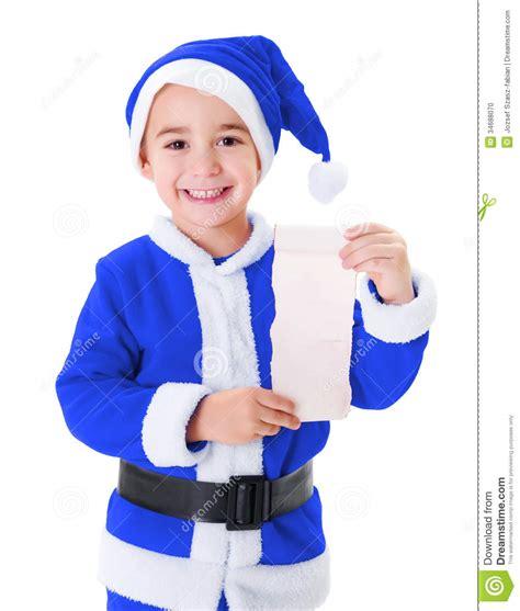 imagenes santa claus azul peque 241 o muchacho azul de santa claus que muestra el list d