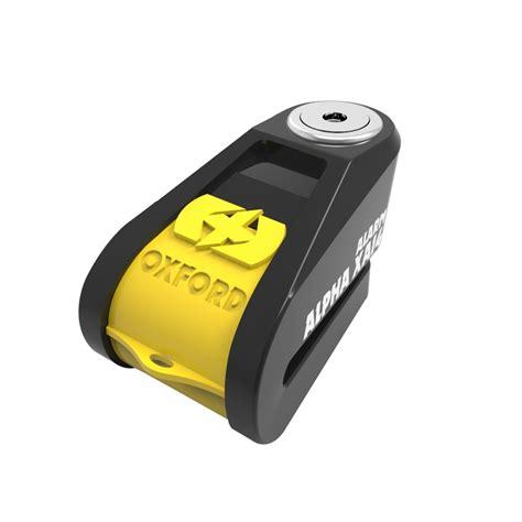 Alarm Lock oxford alpha xa14 yellow disc lock alarm blda motorbikes