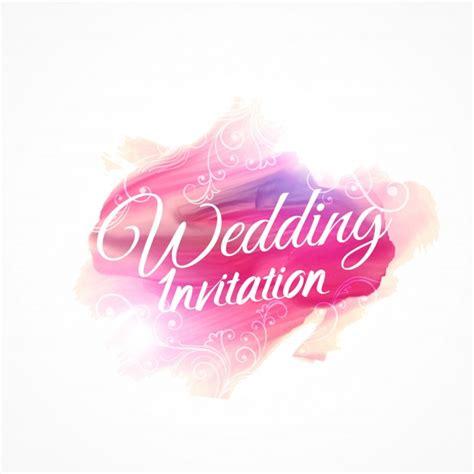 Hochzeitseinladung Design Vorlage Rosa Aquarell Pinselstrich F 252 R Hochzeitseinladung Design Vorlage Mit Blumenschmuck
