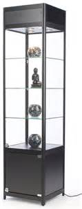 Display Cabinet Lockable Locking Narrow Showcase 72 Quot High Halogen Lit Display