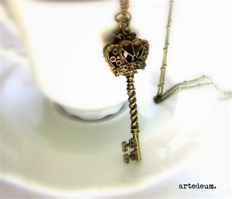 skeleton key necklace antique style necklace by lebijouantique