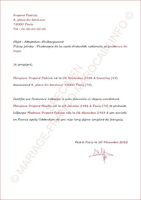 Exemple De Lettre D Invitation Pour Hebergement Modele Attestation Justificatif De Domicile Document