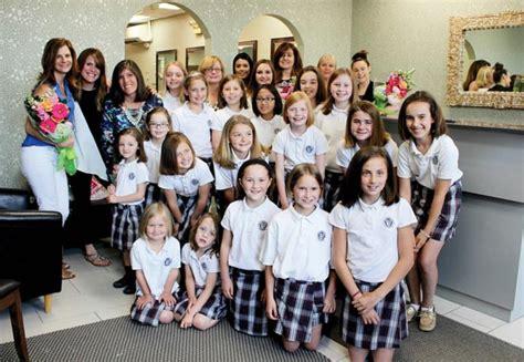 hairstyles for catholic school needham catholic school students donate hair to help women