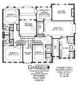 2 Story House Plans With Master On Main Floor by Calabria House Plan House Plans By Garrell Associates Inc