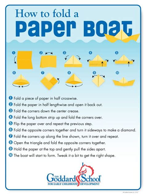 How To Make A Paper Boat That Floats On Water - make a paper boat with your children will it sink or