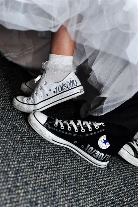 Hochzeit Chucks by Shoe Made To Order Wedding Converse 2034870 Weddbook