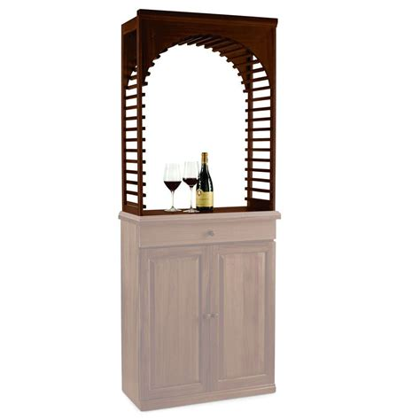 wine enthusiast n finity wine rack kit mahogany arch