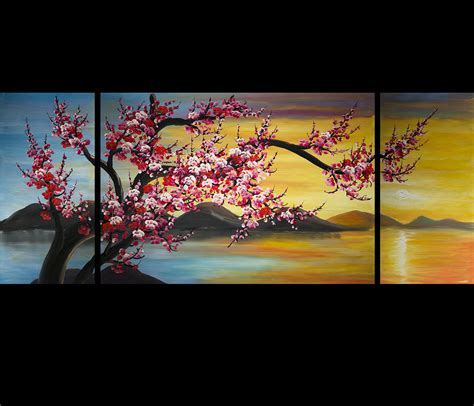 feng shui painting abstract art cherry blossom painting feng shui painting
