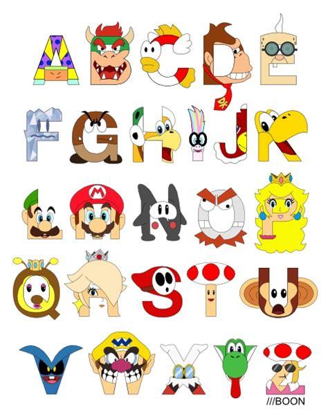 mike baboon design super mario alphabet
