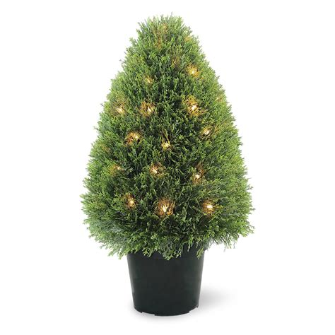 national tree company upright juniper pre lit topiary tree