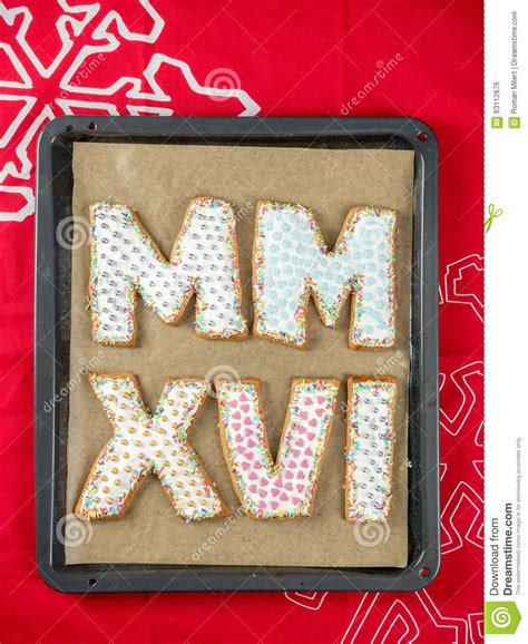 new year cookies 2016 2016 new year cookies stock photo image 63112676