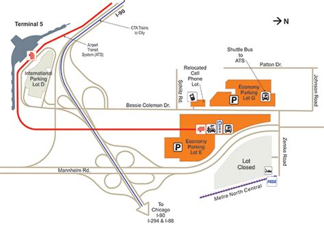 ohare airport map ord airport parking guide find cheap airport parking near o hare