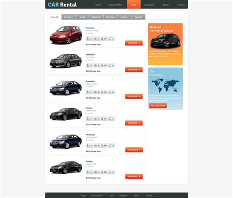 motor website free rent a car website template car rental template