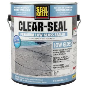 seal krete 1 gal clear seal low gloss sealer 365001 the