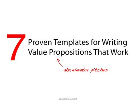 7 Proven Templates For Writing Value Propositions That Work Value Proposition Template Ppt