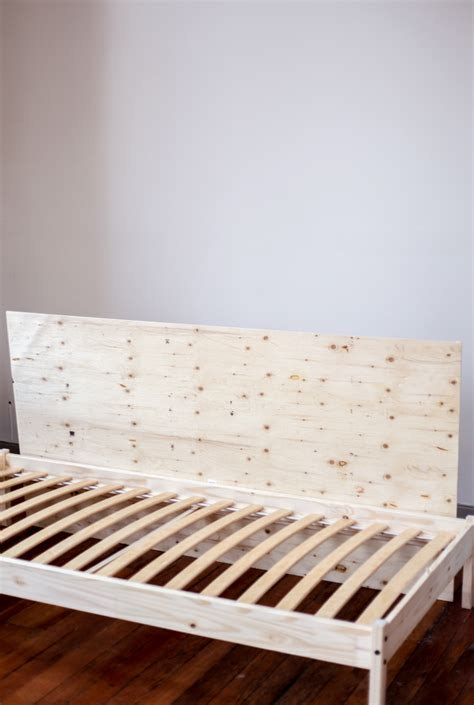 bed frame feet home depot solid wood bedjpg placing the mattress support slats in a