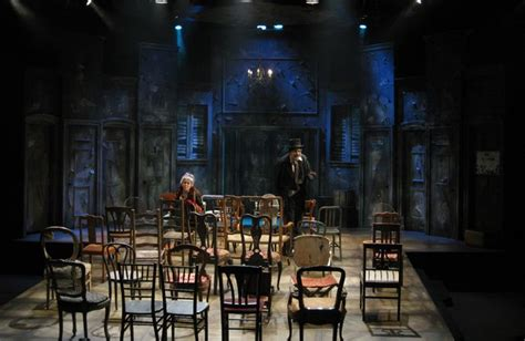 ionesco le sedie architectural lighting blues raked stage the chairs