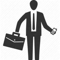 Office worker icon service delivery manager